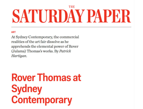 The Saturday Paper: Rover Thomas at Sydney Contemporary