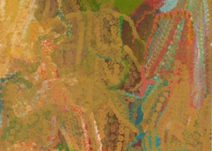 Emily Kame Kngwarreye (circa 1916-1996) Merne Everything IV, 1993 Inscribed verso with artist's name and Delmore Gallery cat. 93K014 Synthetic polymer paint on canvas 210.5cm by 121.5cm