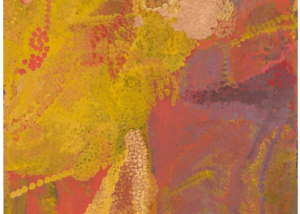 Emily Kame Kngwarreye (circa 1916-1996) My Country I, 1992 Bears Delmore Gallery number on reverse, 92L084 Synthetic polymer paint on linen, 212cm by 122 cm